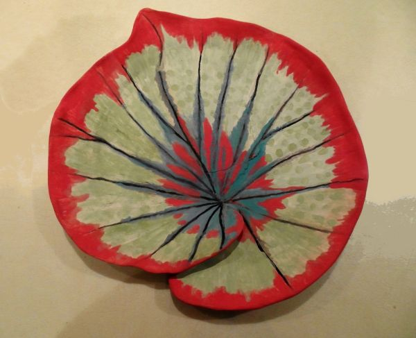 begonia leaf ceramic sculpture by cathy taylor smaller