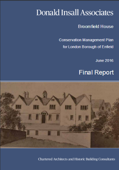 broomfield house conservation management plan cover