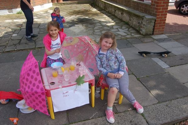 children in palmers green enjoying a play street session
