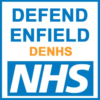 defend enfield nhs logo