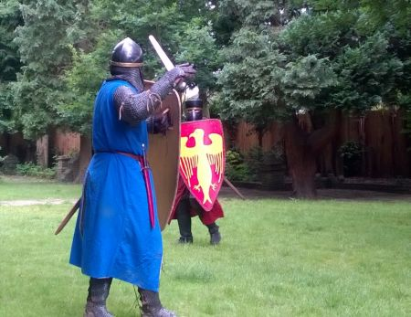 Knights clash in the Oak Garden after witnessing a death that was prefigured