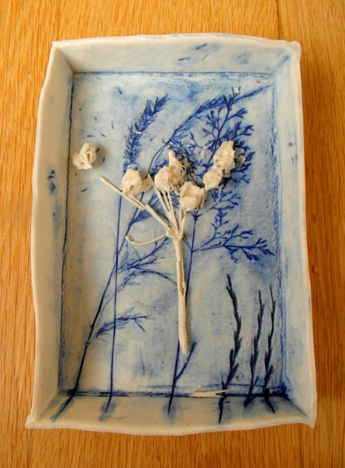 porcelain grasses and cowparsley