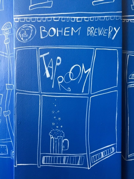 bohem taproom mural detail