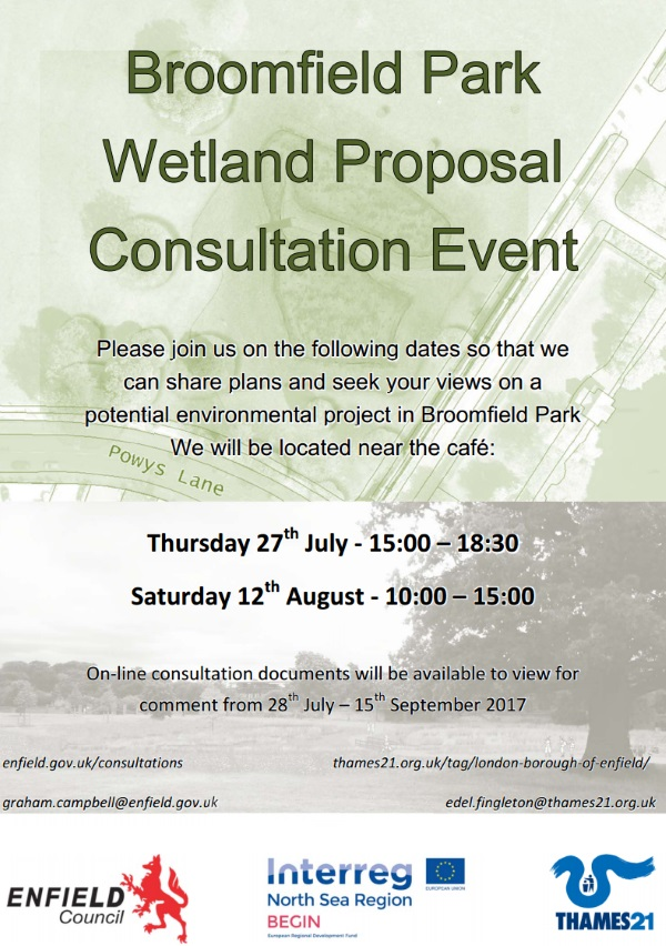 broomfield park wetlands consultation august 2017