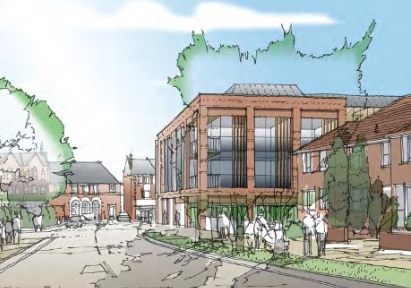 fox redevelopment from fox lane artists impression