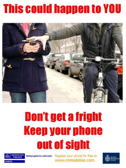 keep your phone out of sight
