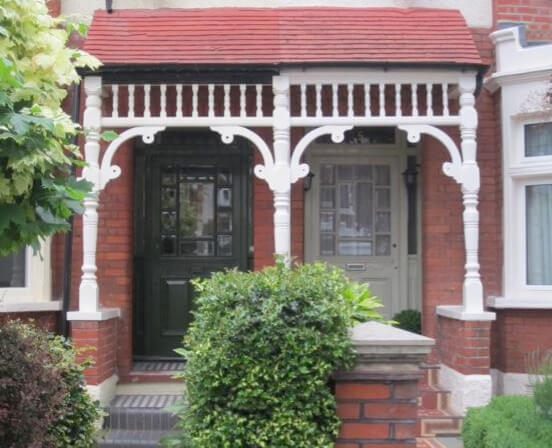 Porches and front doors in Derwent Road