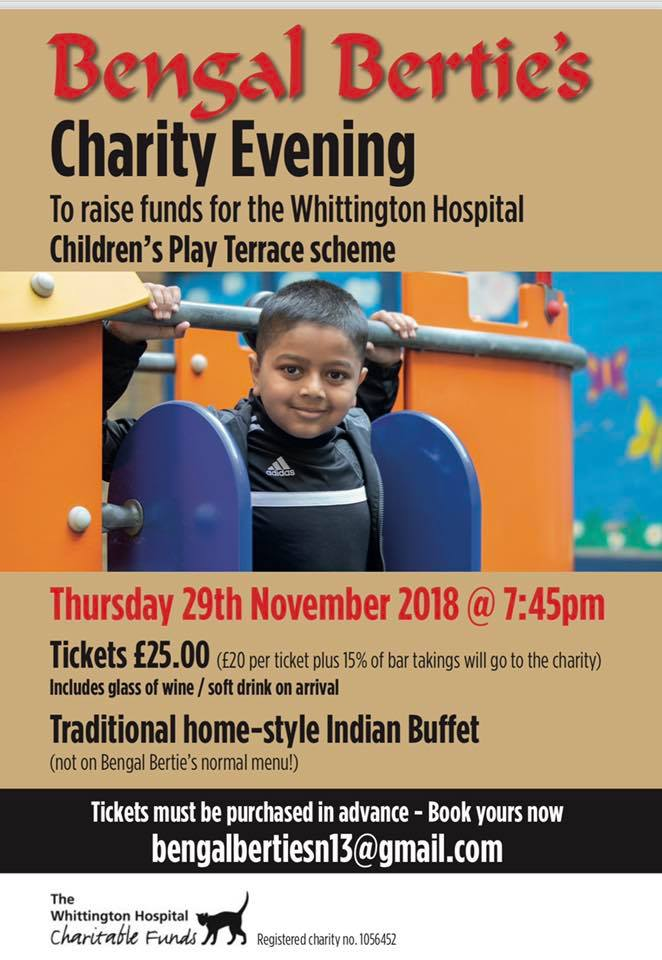 bengal berties charity evening nov 2018