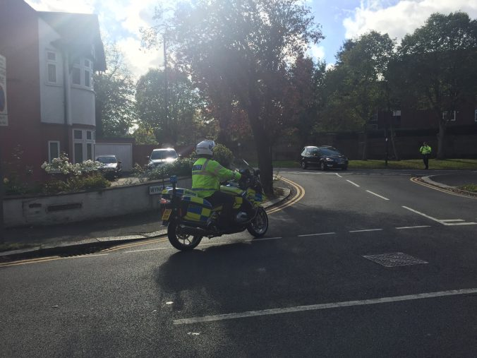 bourne hill motorcycle cop