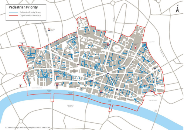 city of london pedestrian priority proposals