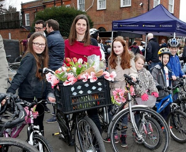 clare rogers and daughters a105 cycle lanes ride 2