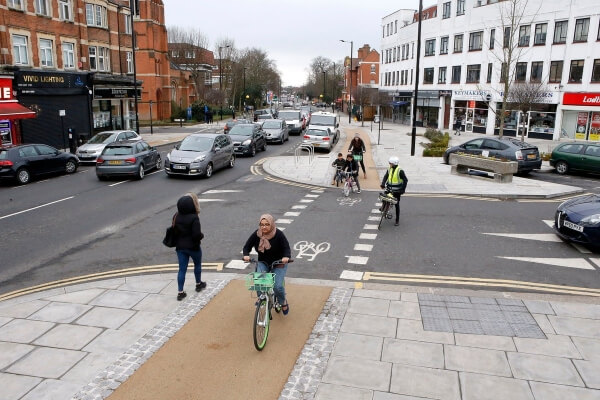 cycle lanes in winchmore hill