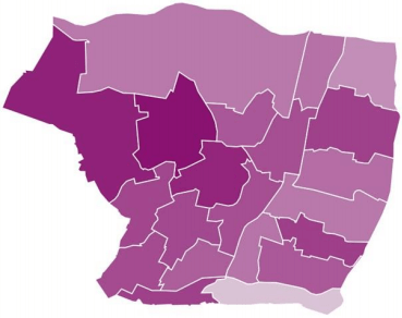 enfield life expectancy at birth and at age 65