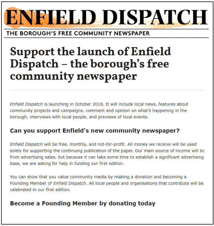 enfield dispatch headlines