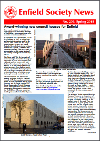 enfield society news cover
