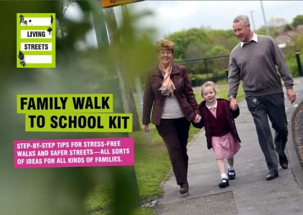 family walk to school kit cover