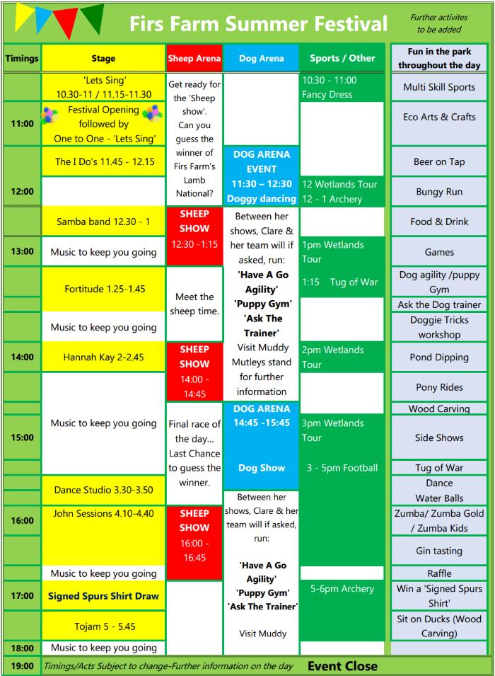 firs farm summer festival 2018 schedule 700px