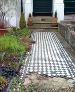 garden path before replacement