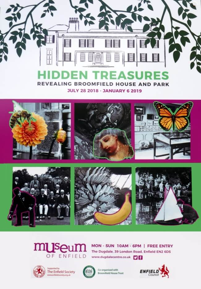 Poster for Revealing Broomfield House and Park exhibition
