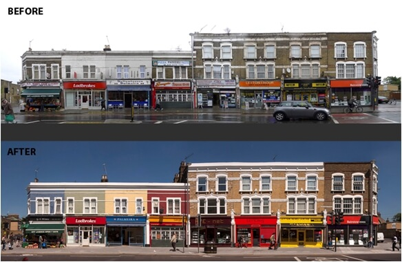 leyton high road before and after