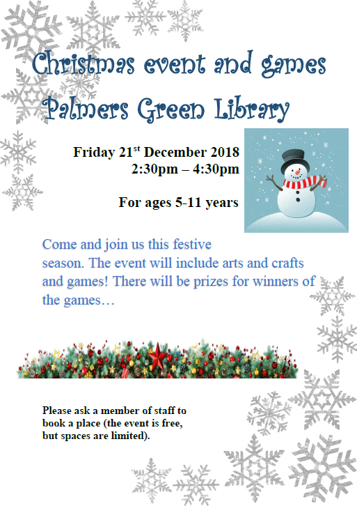library xmas event