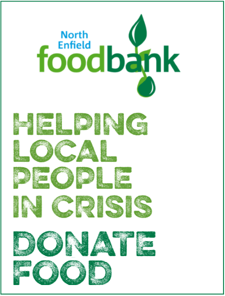 north enfield foodbank donate food