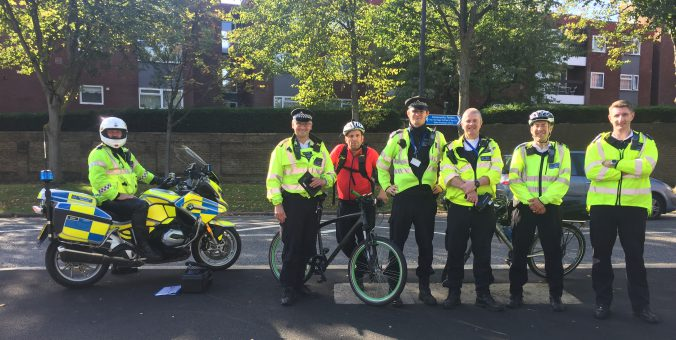 met cycle team on bourne hill