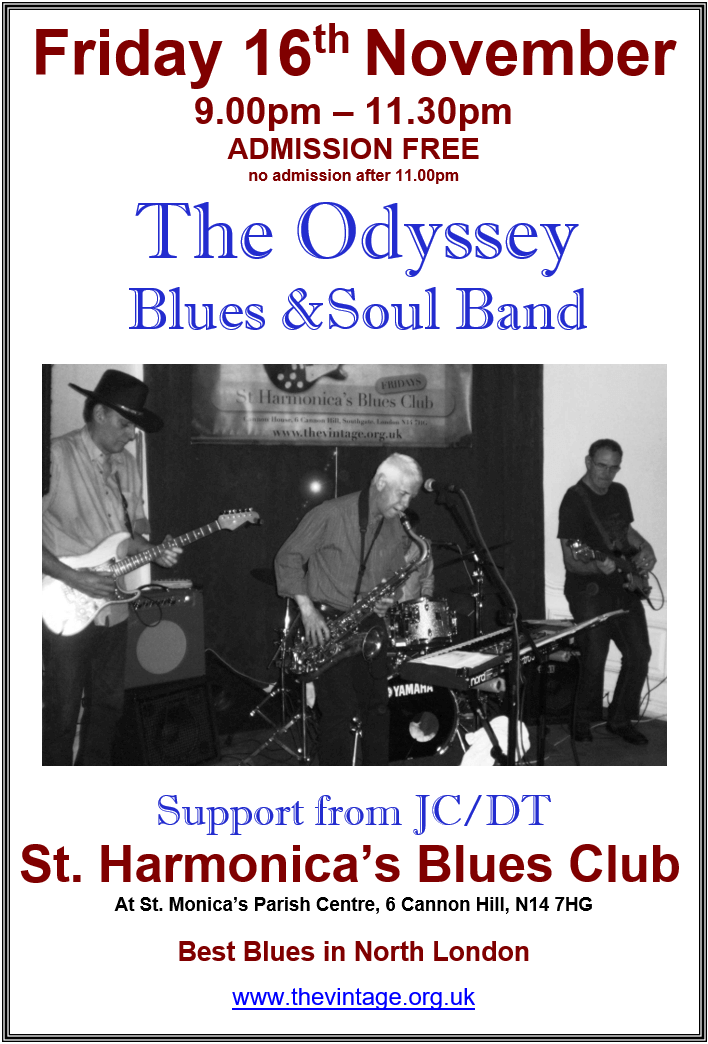 odyssey blues and soul band at st harmonicas