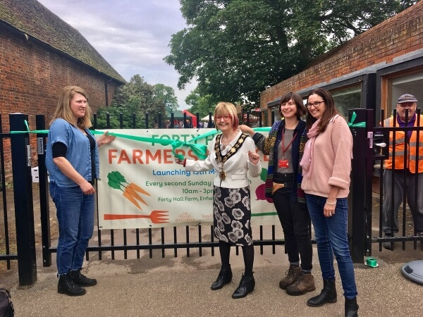 opening of forty hall farmers market