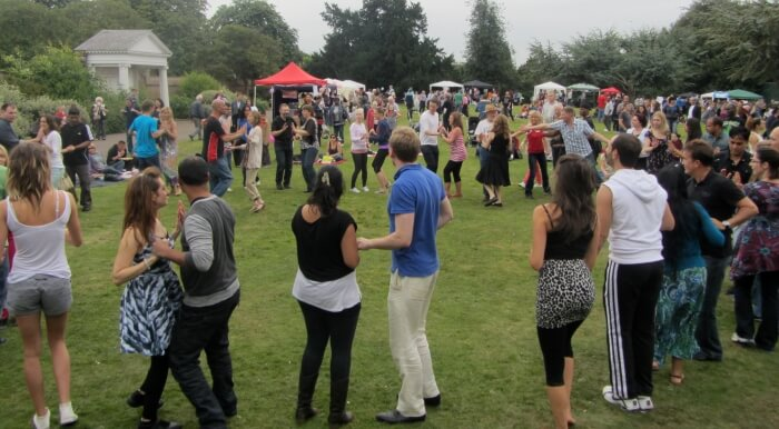 people at 2017 palmers green festival