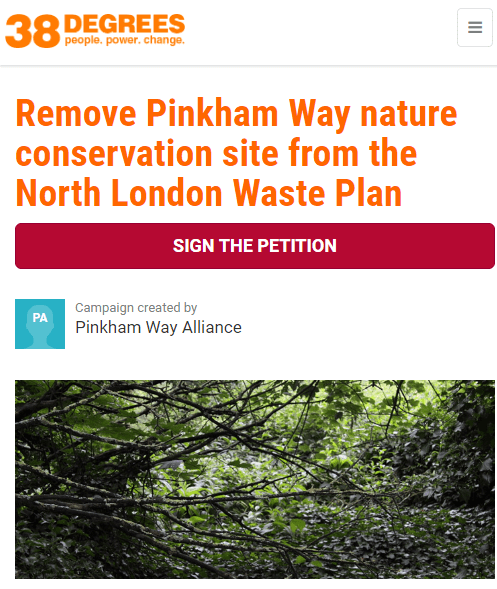pinkham way petition