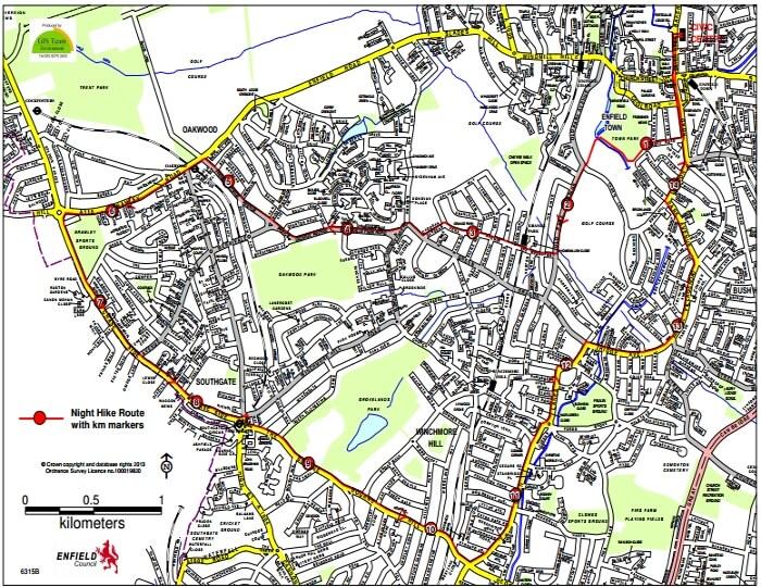 pyjama walk route map