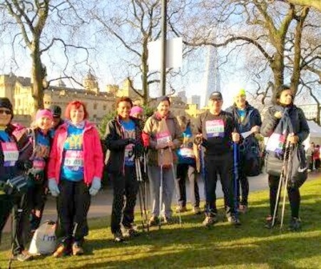 silverfit broomfield park nordic walkers before start of big half