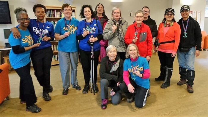 silverfit broomfield park nordic walkers with big half trophies