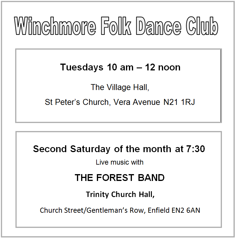 winchmore folk dance club events