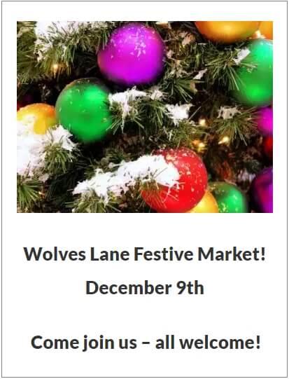 wolves lane festival market dec 2018