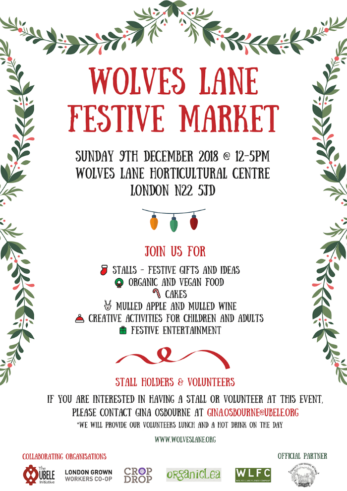 wolves lane festive market flyer dec 2018
