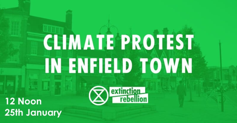 climate protest flyer