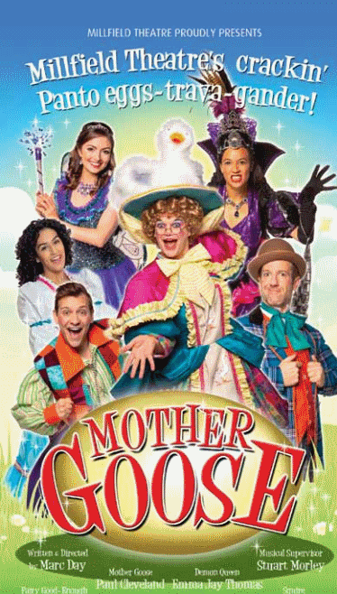poster or flyer advertising event Mother Goose
