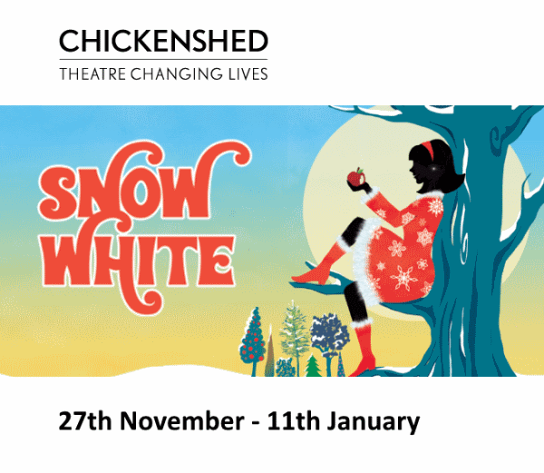 poster or flyer advertising event Chickenshed: Snow White