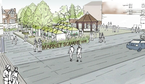 artist's impression of church street enfield as a healthy street
