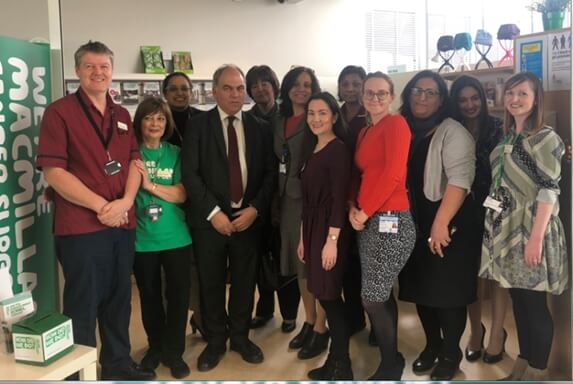 Enfield Southgate MP visits Macmillan Cancer Support team at the North Mid