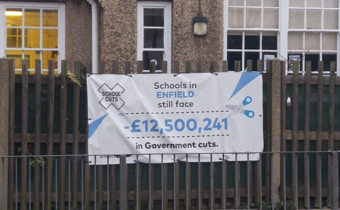 banner outside hazelwood school