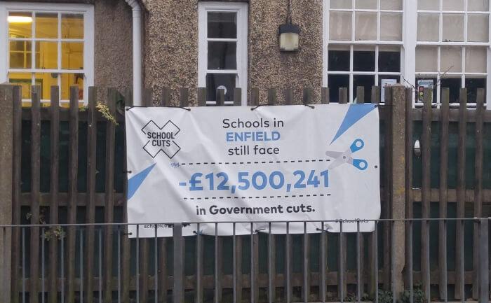 banner outside hazelwood school