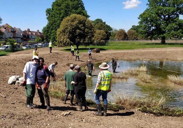 Planting the Broomfield wetlands