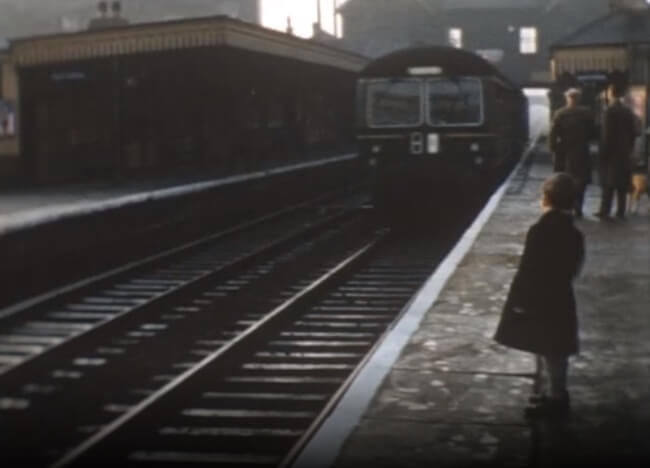 diesel train at palmers green 1959