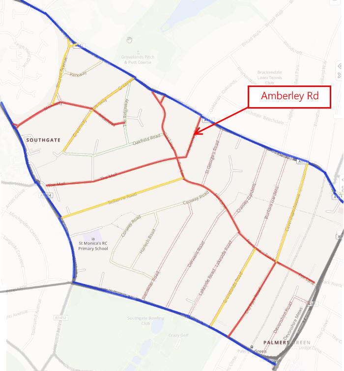 fox lane qn baseline data traffic volume showing amberley road 1