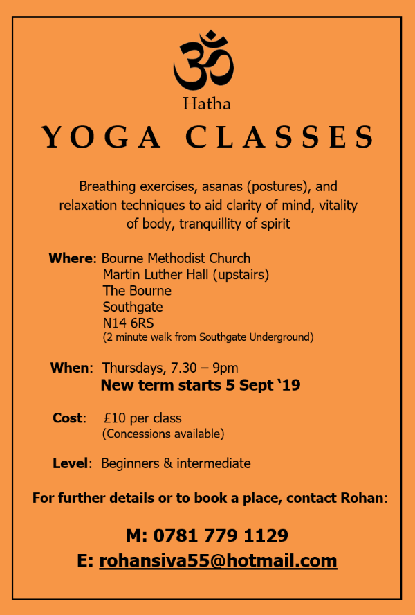 poster or flyer advertising event Hatha Yoga class