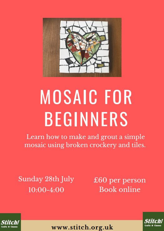 poster or flyer advertising event Mosaic for Beginners
