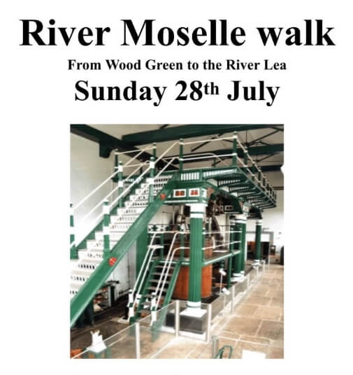 poster or flyer advertising event River Moselle walk: Wood Green to the River Lea